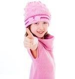 Charming little fashionista. Stock Image