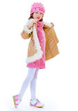 Charming little fashionista. Stock Images