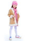 Charming little fashionista. Royalty Free Stock Image