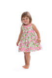 Charming little girl in a dress Royalty Free Stock Photos