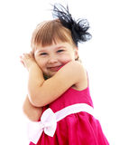 Charming little girl gesturing. Royalty Free Stock Photography
