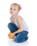 Charming little girl Stock Photos