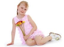 Charming little girl Stock Images