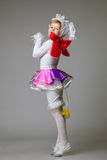 Charming little girl posing in dance costume Stock Image