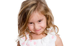 Charming Little Girl Smiling to You Shyly Royalty Free Stock Images