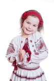 The charming little girl in the Ukrainian national suit Stock Photography