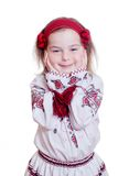 The charming little girl in the Ukrainian national suit Stock Photo