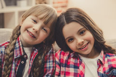 Charming little girls Stock Images
