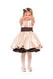 Charming little lady in a dress.  Royalty Free Stock Images