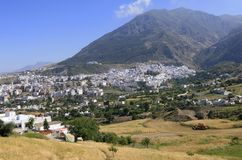 Charming little mountain town Chefchaouen, Morocco royalty free stock image