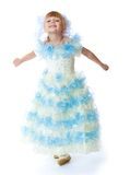 Charming little princess in a long dress Royalty Free Stock Photos