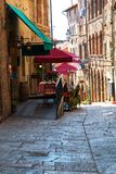 Charming little tight narrow streets of Volterra  town Royalty Free Stock Image