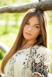 Charming long-haired girl Stock Image