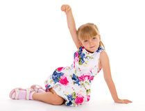 Charming look little girls Royalty Free Stock Image
