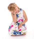Charming look little girls Stock Images