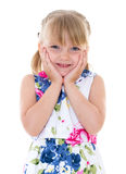 Charming look little girls Stock Image