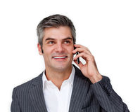 Charming male executive on phone Stock Photo