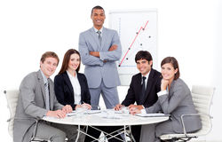 Charming manager giving a presentation Stock Images