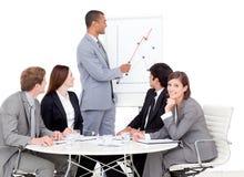 Charming manager giving a presentation Stock Photos