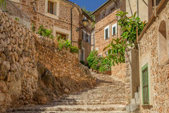 Charming medieval street Stock Images