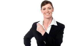 Charming middle aged female manager Royalty Free Stock Images