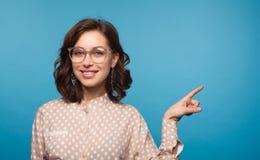 Charming model wearing eyeglasses Stock Photo
