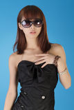 Charming modern young woman Stock Photos