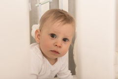 Charming 8 month old baby boy Stock Images
