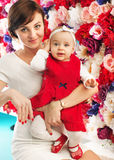 Charming mother with cute baby Royalty Free Stock Photo