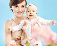 Charming mother with cute daughter Royalty Free Stock Image