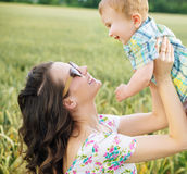 Charming mother with little child Royalty Free Stock Photos