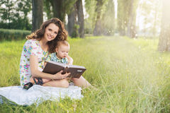 Charming mother spending spare time with her son Royalty Free Stock Photography