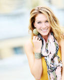 Charming nice-looking lady summer fashion model Royalty Free Stock Photography