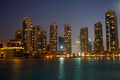 Charming Night In Dubai Stock Photography
