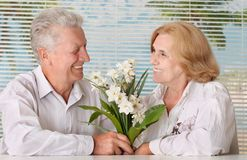 Charming old couple at the resort Royalty Free Stock Photo