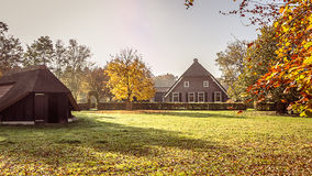 Charming old farmhouse and sheep barn Stock Image