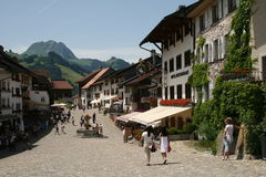 Charming Old Gruyères Royalty Free Stock Images