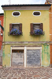 Charming old house exterior. Of old European town. Venice, Italy Royalty Free Stock Photography