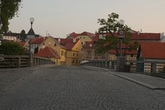 The charming old town of Cesky Krumlov, Czech Republic. It is a Unesco World Heritage site.  royalty free stock photo