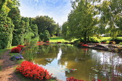 Charming park Sigurta in northern Italy Royalty Free Stock Image
