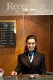 Charming pretty receptionist posing Stock Photo