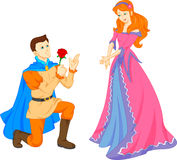 Charming prince and beautiful princess Stock Images