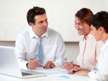Charming professional group working on documents Stock Photography