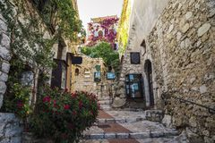 Charming Provencal house in Eze, Cote d`Azur, France Royalty Free Stock Images