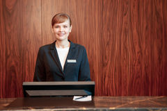 Charming receptionist at work Royalty Free Stock Photo
