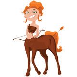 Charming Sagittarius in cartoon style Stock Images