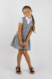 Charming schoolgirl Stock Photo