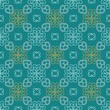 Charming seamless pattern with flowers of hearts Stock Image