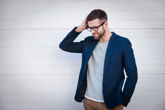 Charming and self-confident. Royalty Free Stock Photos