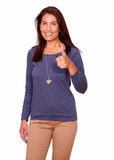 Charming senior woman showing you ok sign Royalty Free Stock Photos
